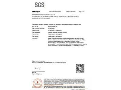 稳好纺织20年SGS报告